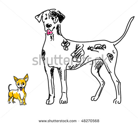big clipart large small