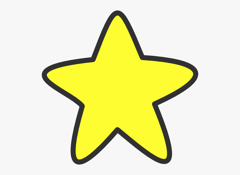 Smiling star drawing cliparts. Big clipart large small