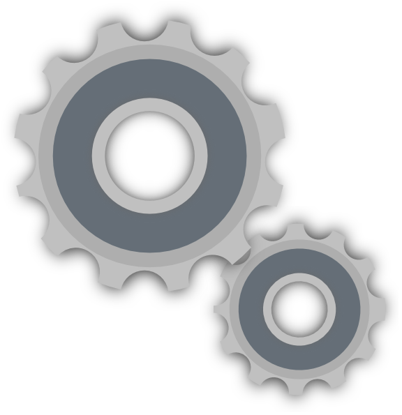 Gears and clip art. Big clipart large small