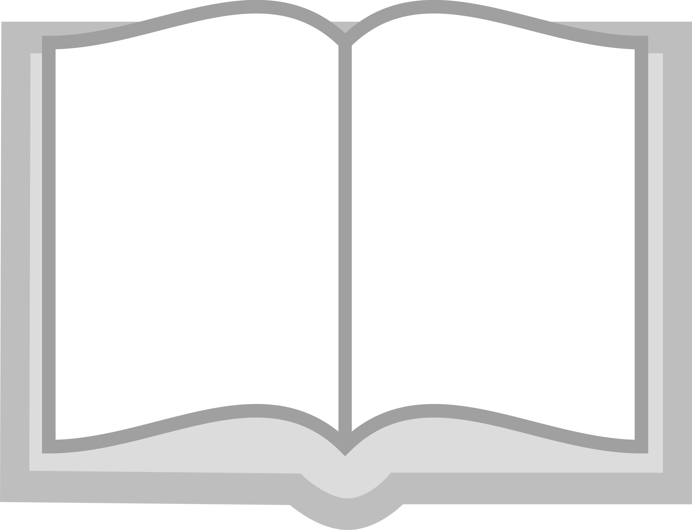 Clipart - Open book (grayscale)