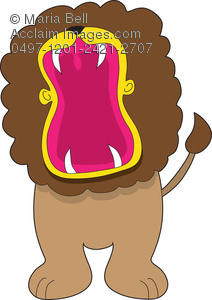 Lion stock photography acclaim. Big clipart open mouth