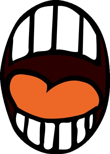Body part clip art. Big clipart open mouth
