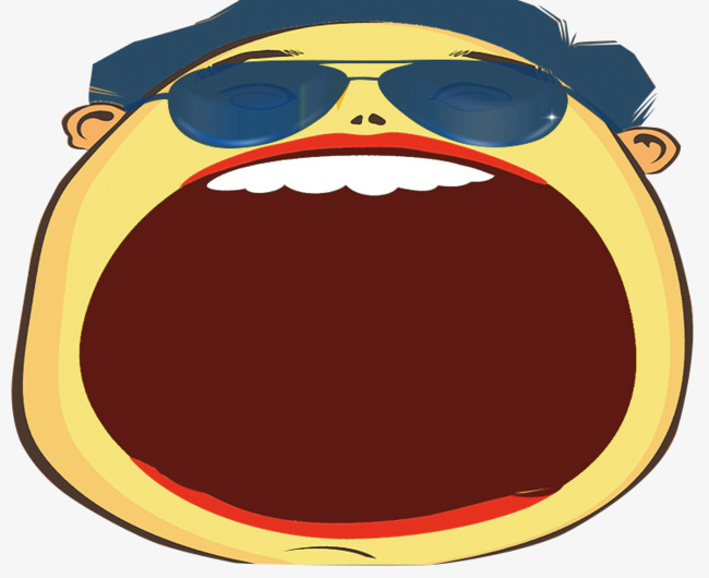 Cartoon hand painted of. Big clipart open mouth