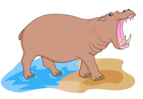 Free clip art pictures. Hippo clipart wild animal