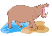 Big clipart open mouth. Free hippo clip art