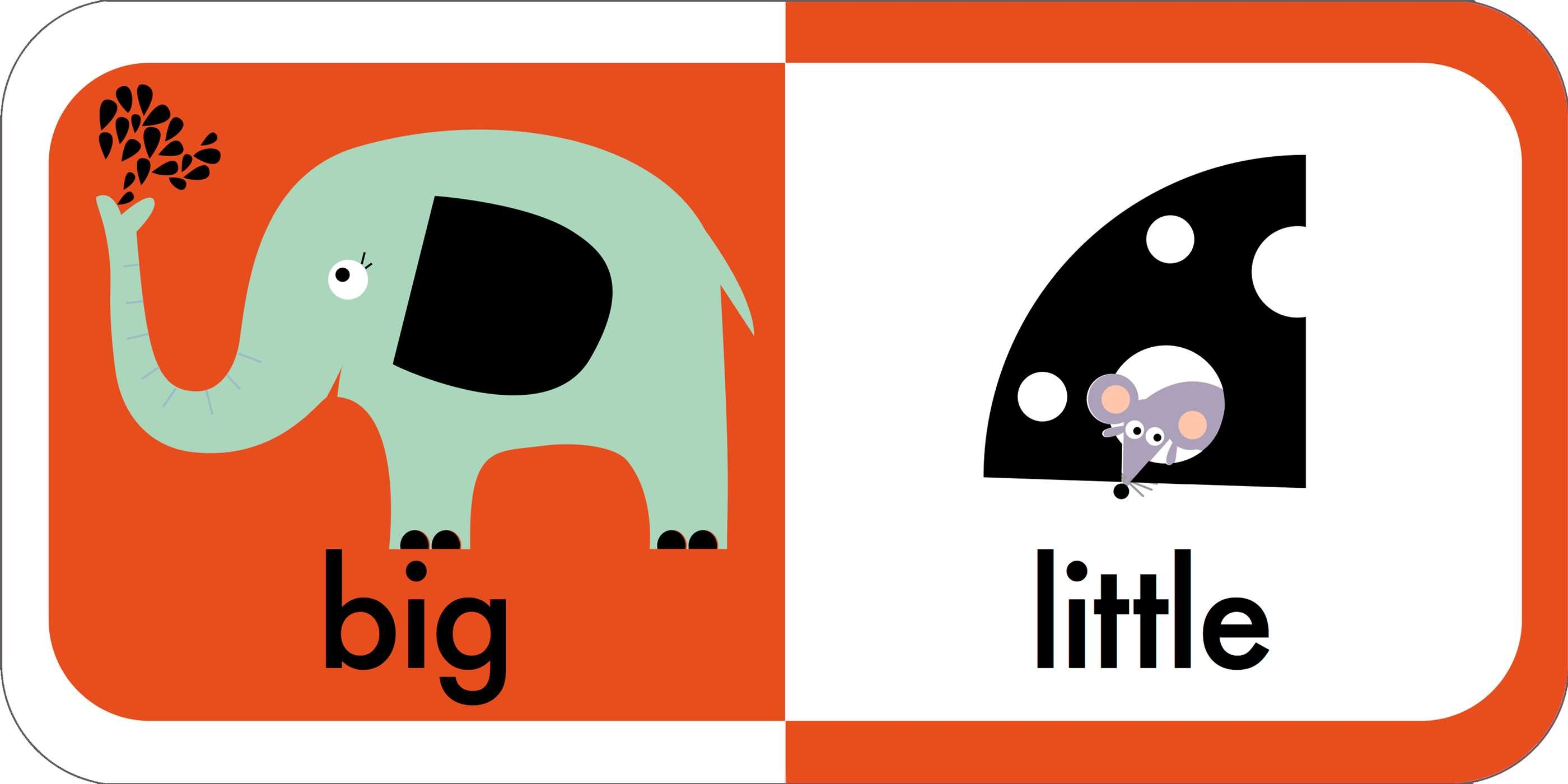 Big clipart opposite. My first opposites book