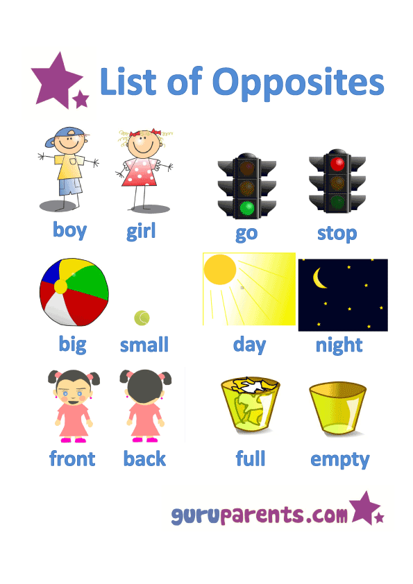 Opposites preschool use this. Young clipart opposite