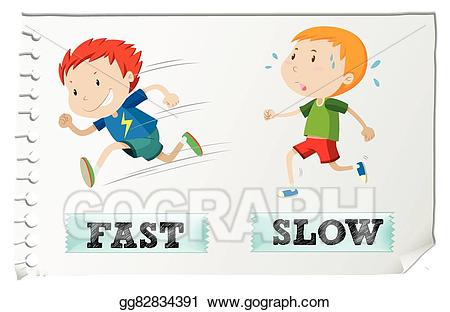 Eps illustration adjectives with. Big clipart opposite
