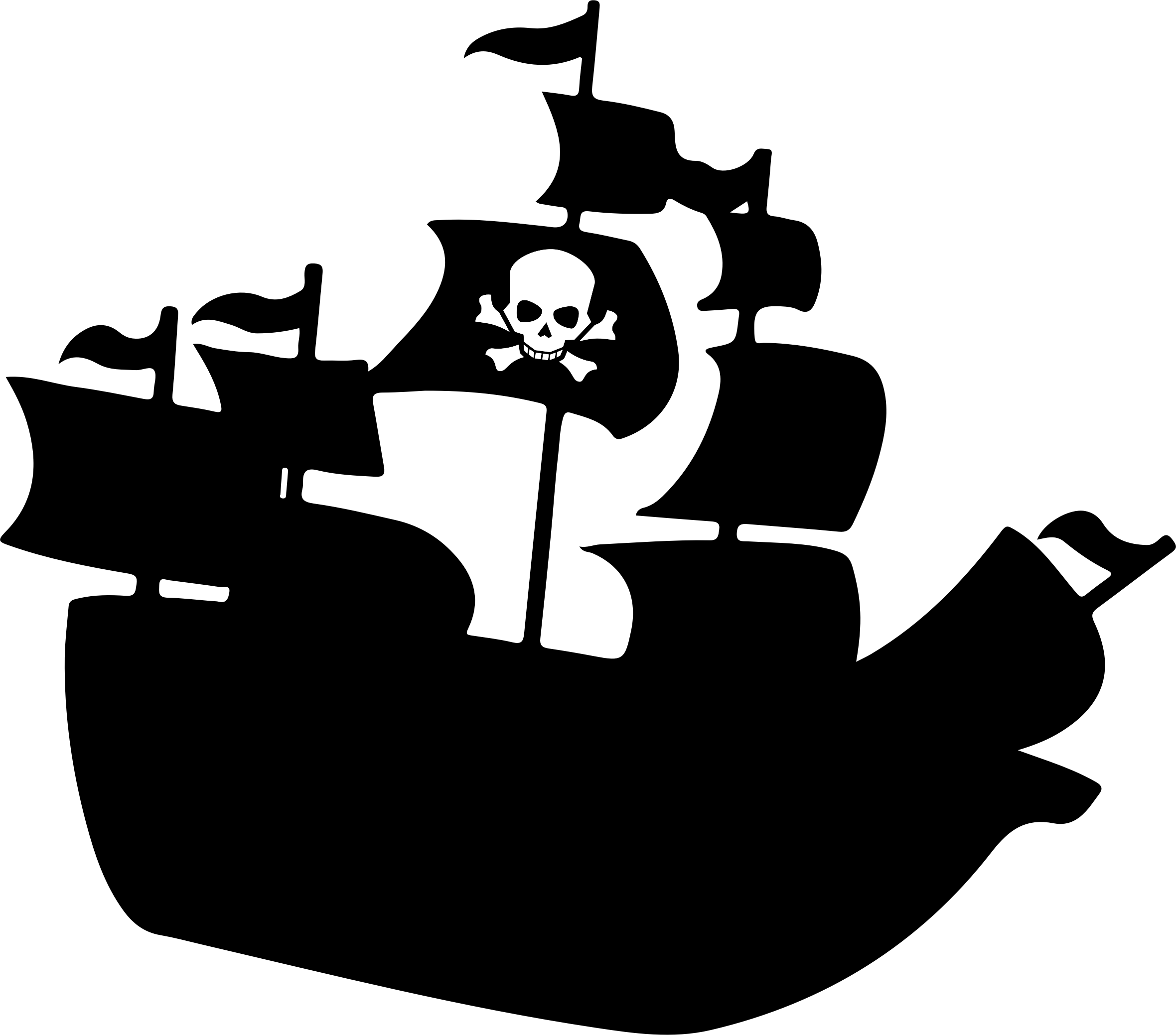 Big clipart pirate ship. Silhouette image png