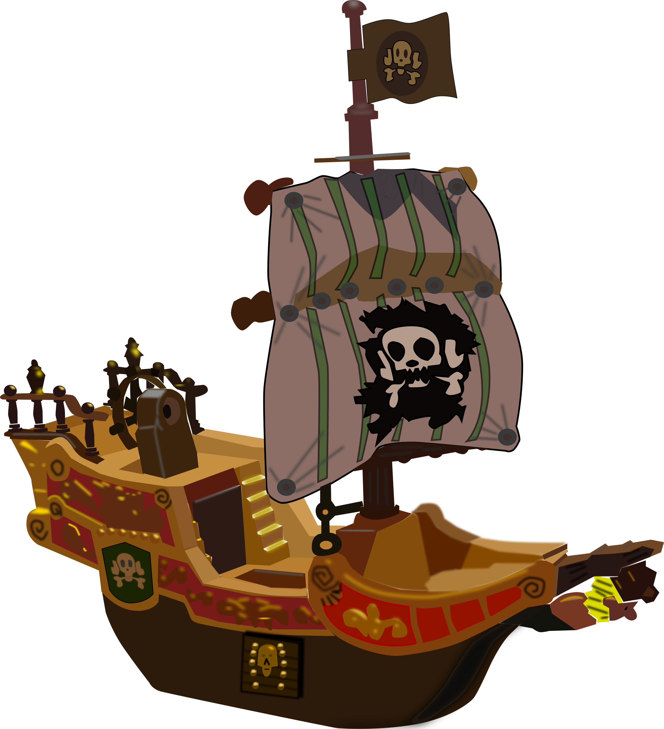 Clipart boat toy. Pirate ship big image