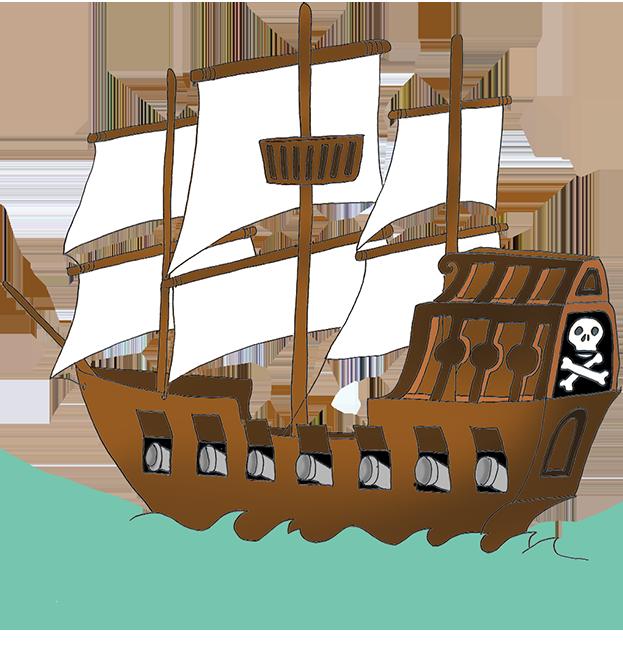 Pirate ship clip art. Kids clipart boat