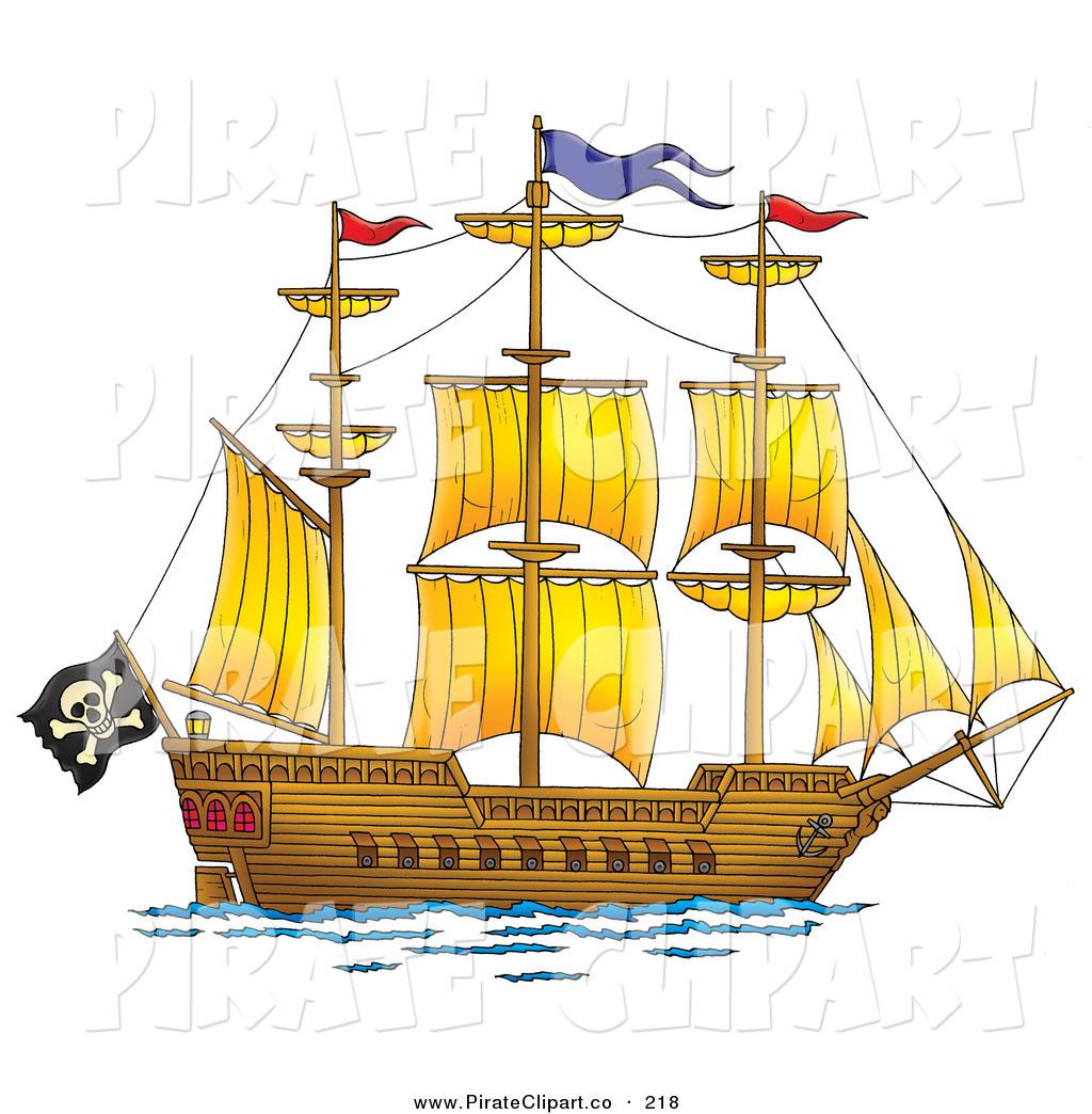Big clipart pirate ship. Sail kid clipartix