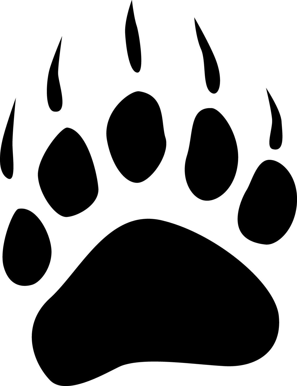 Polar big pinterest. Paw clipart black bear