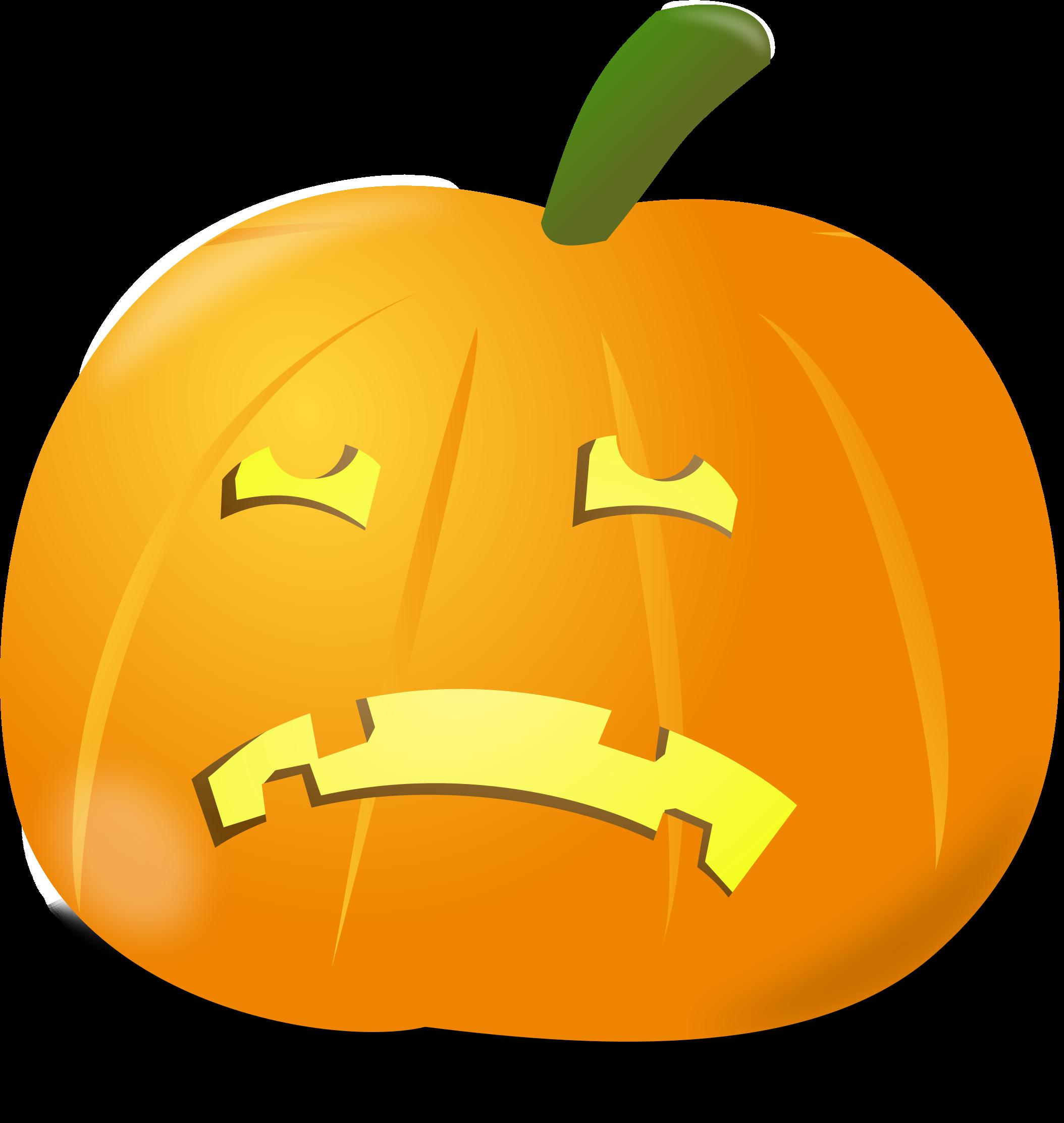 Sad pumpkin big image. Winter clipart fruit