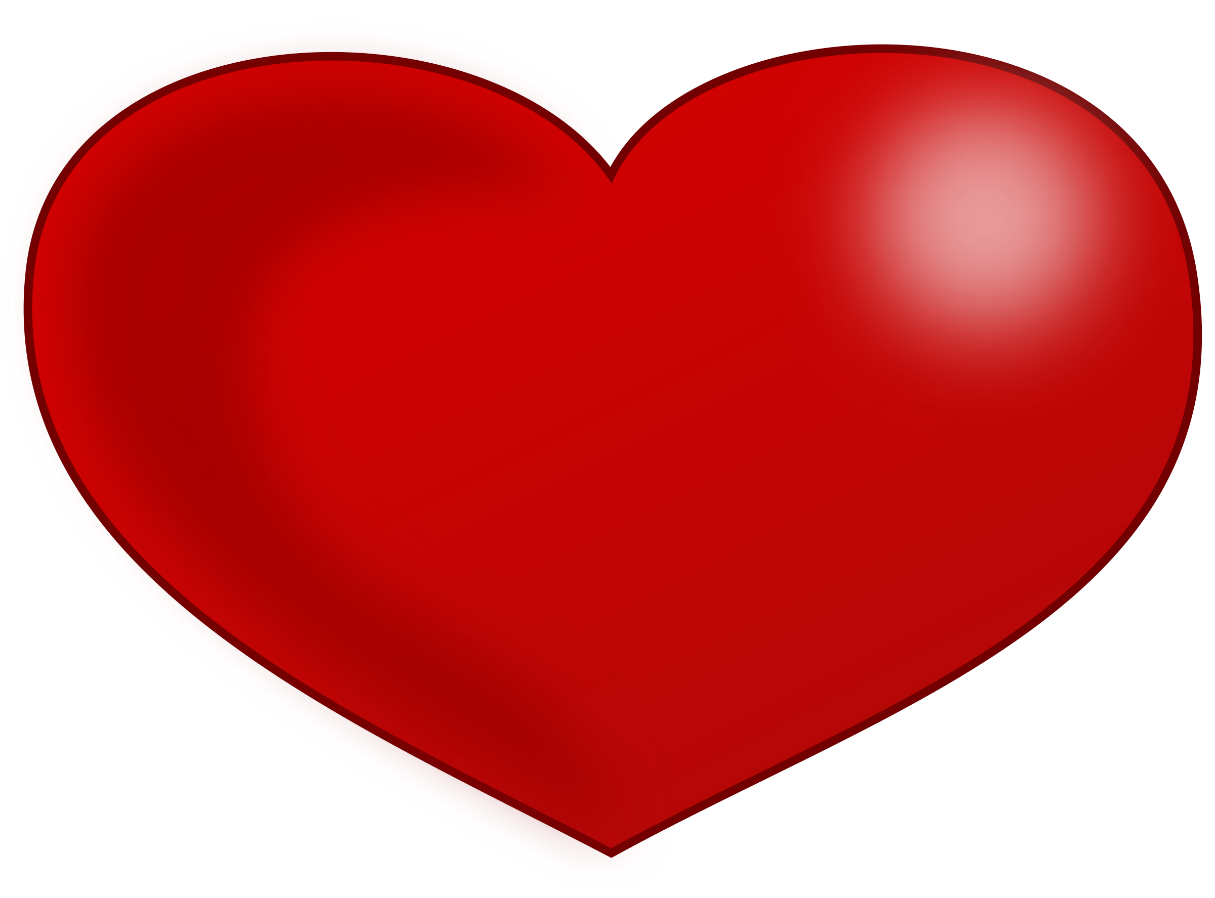 Big clipart red heart. Glossy valentine image png