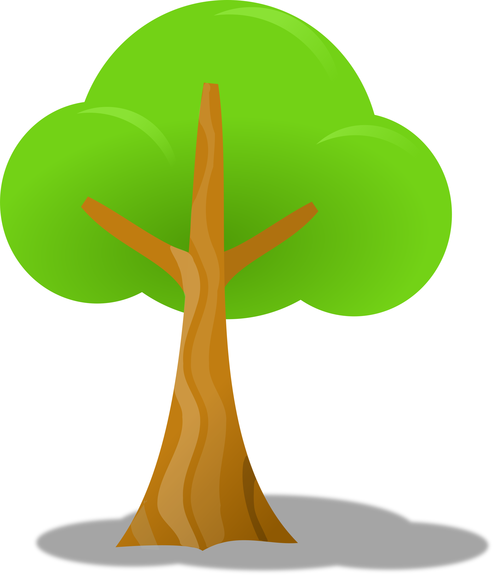 Big image png. Tree clipart simple