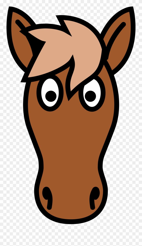 Big image horse head. Horses clipart simple