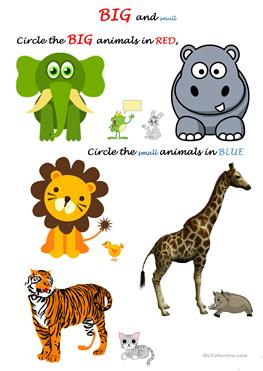 collection of and. Big clipart small animal