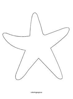 Sea star template beaded. Big clipart starfish