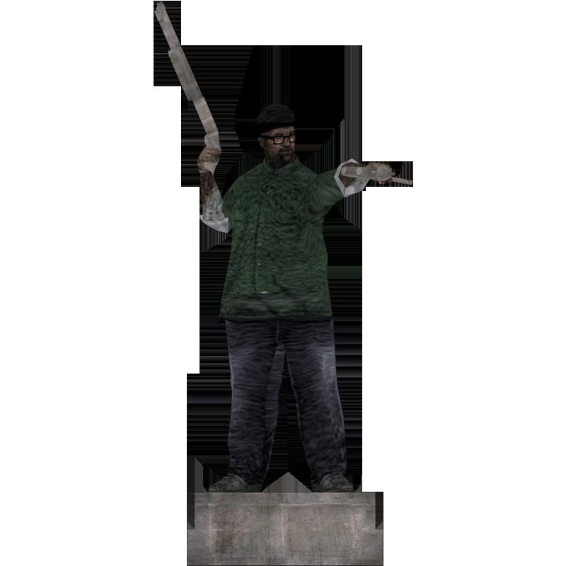 Big smoke png. Statue based on the