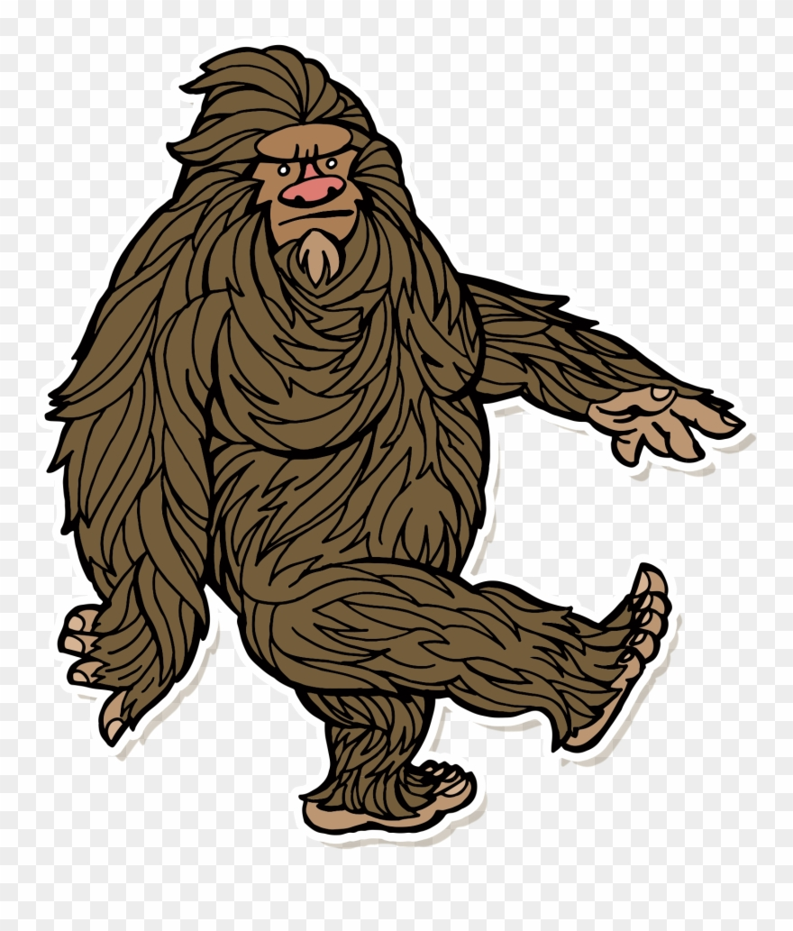Bigfoot clipart. Sasquatch png download