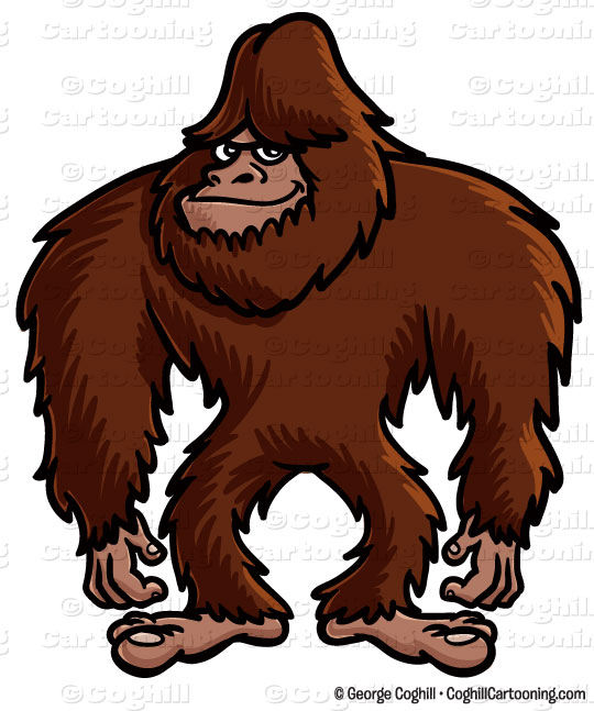 Bigfoot clipart. Cartoon clip art stock