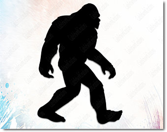 Etsy . Bigfoot clipart