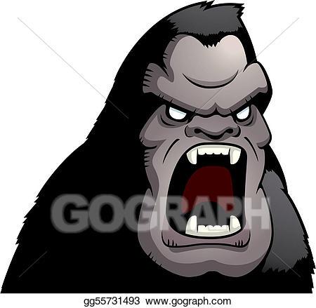 Clip art vector stock. Bigfoot clipart angry ape