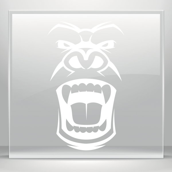 Bigfoot clipart angry ape. Simple color vinyl face