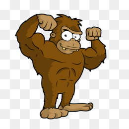 Black and white royalty. Bigfoot clipart angry ape