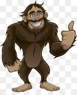 Black and white royalty. Bigfoot clipart animated