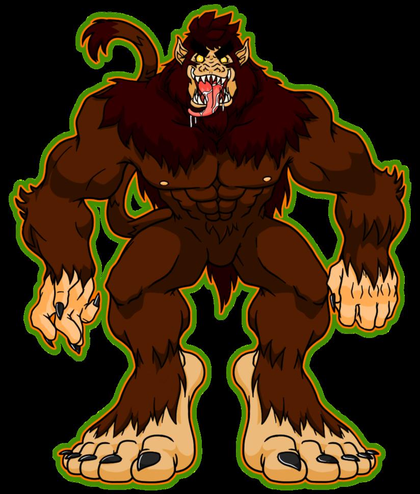 Foot clipart bigfoot. Werewolf by catchshiro on