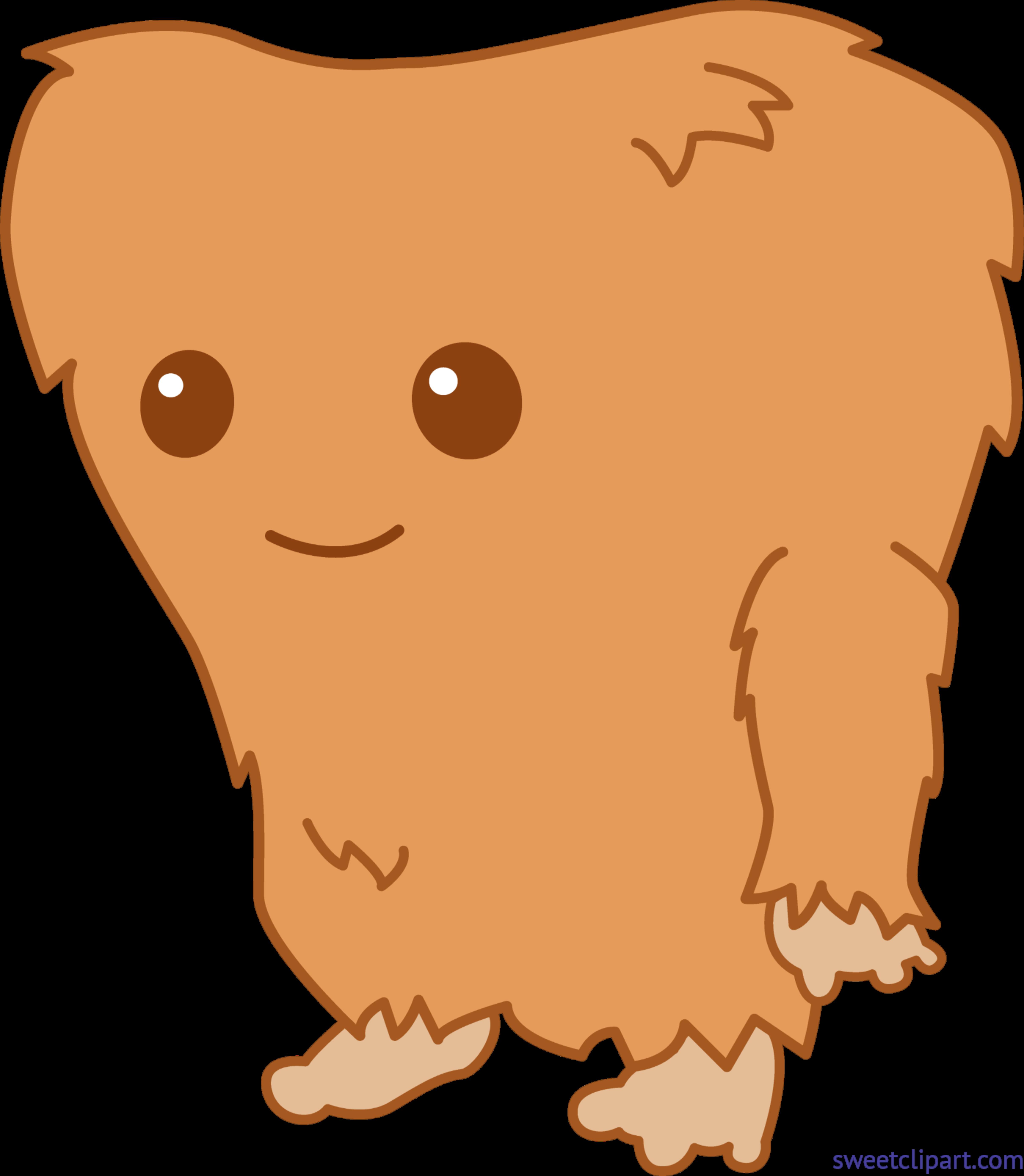 Monster clip art sweet. Bigfoot clipart cute