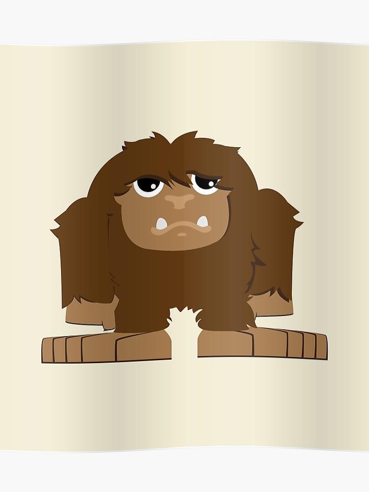 Bigfoot clipart cute. Poster