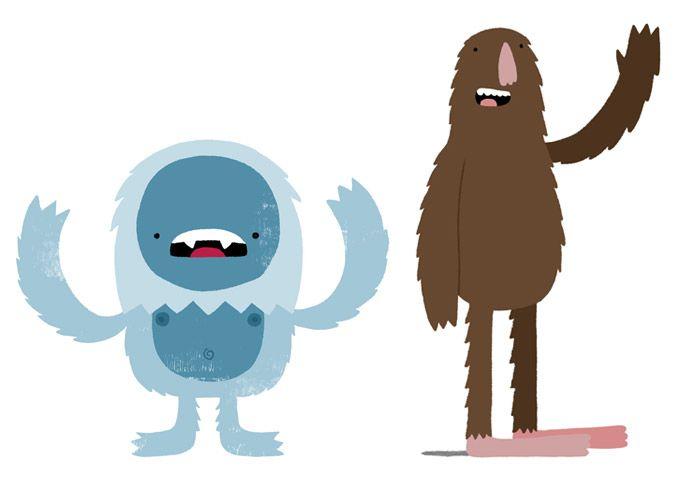 Bigfoot clipart cute. Monster riot illustration yeti