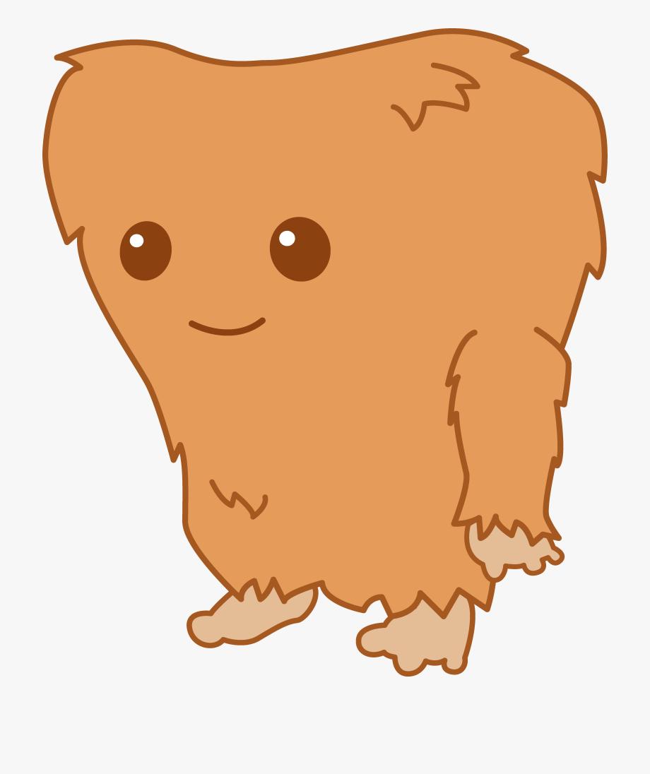 Footprint cliparts . Bigfoot clipart cute