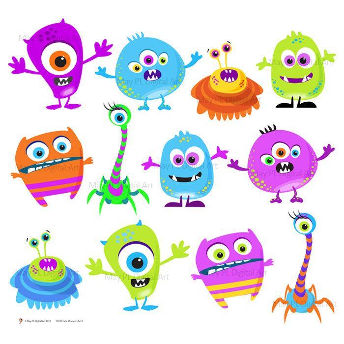 monster clipart colorful monster