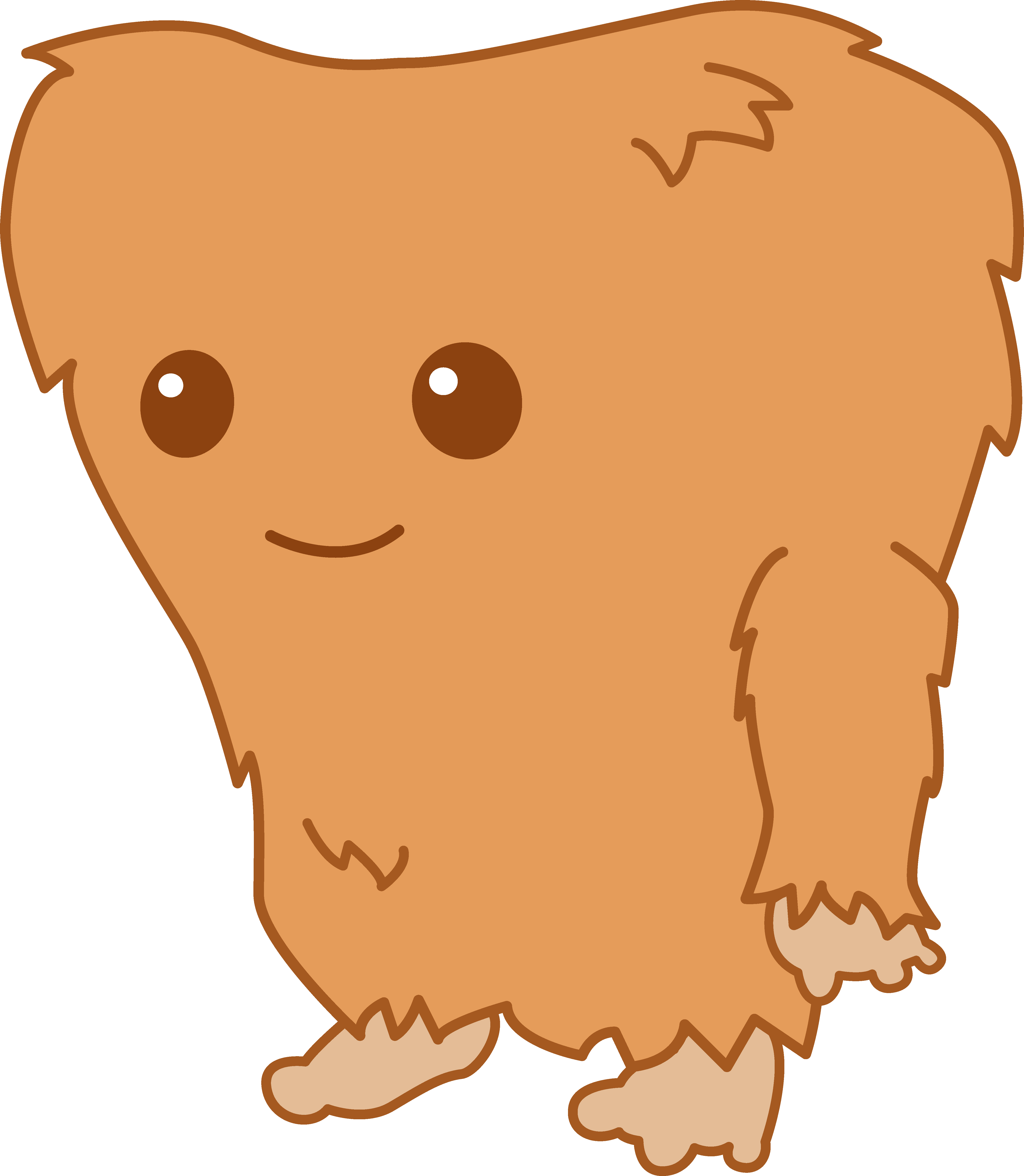Friendly clipart monsters. Cute little bigfoot monster