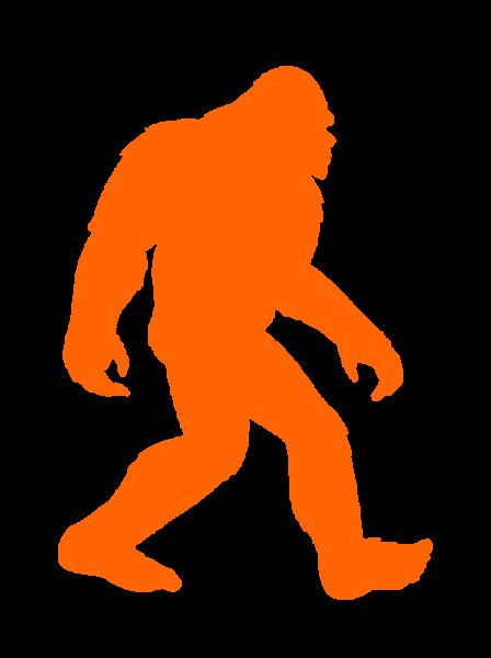 Bigfoot clipart orange. Big foot cut free