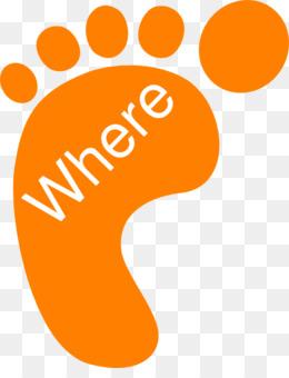 Footprint clip art png. Bigfoot clipart orange
