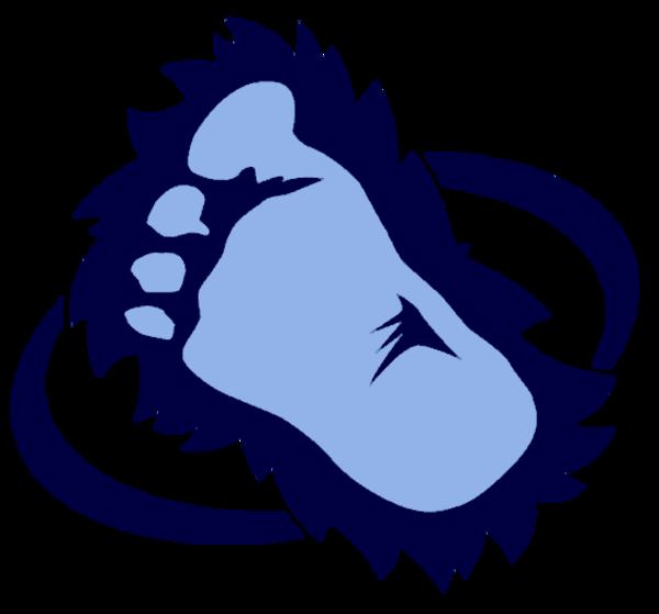 Bigfoot cut free images. Foot clipart vector