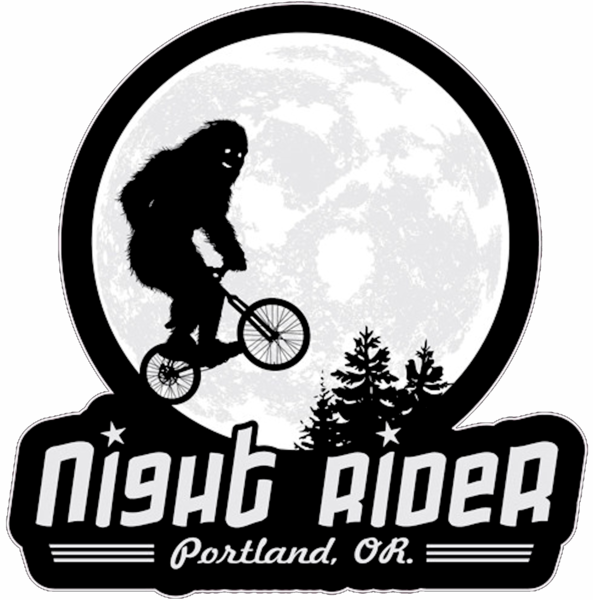 Bigfoot clipart public domain. Night ride cut free