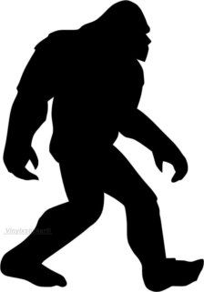 Bigfoot clipart silhouette.  sasquatch shadow pattern