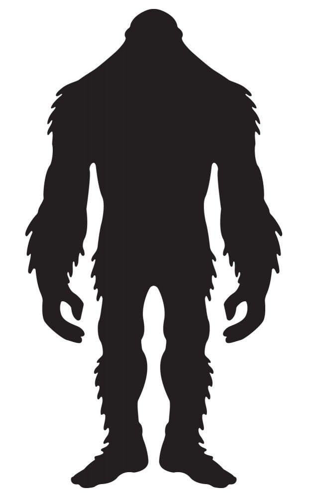 sasquatch shadow pattern. Bigfoot clipart silhouette
