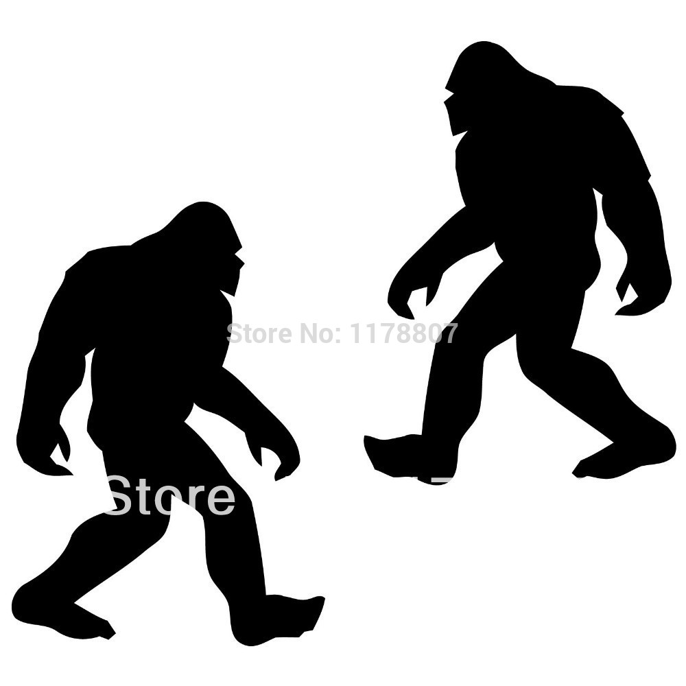 Bigfoot clipart silhouette. Pattern at getdrawings com
