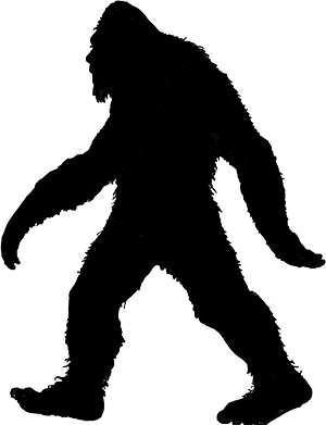 Google search silhouettes filigrane. Bigfoot clipart silhouette