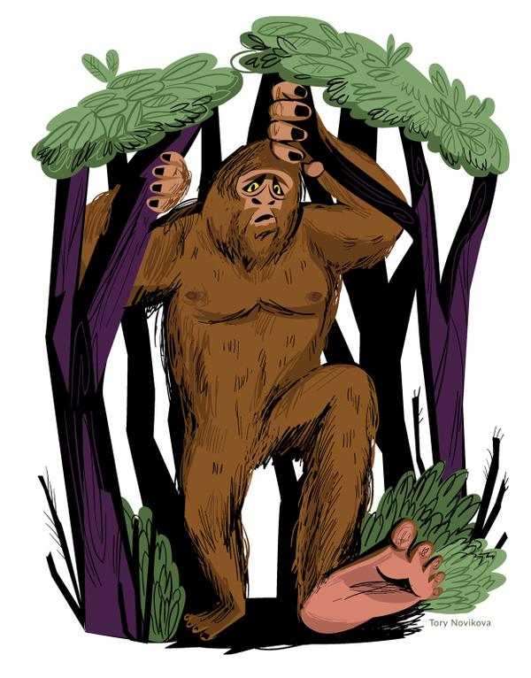 Pin by tory novikova. Bigfoot clipart smelly