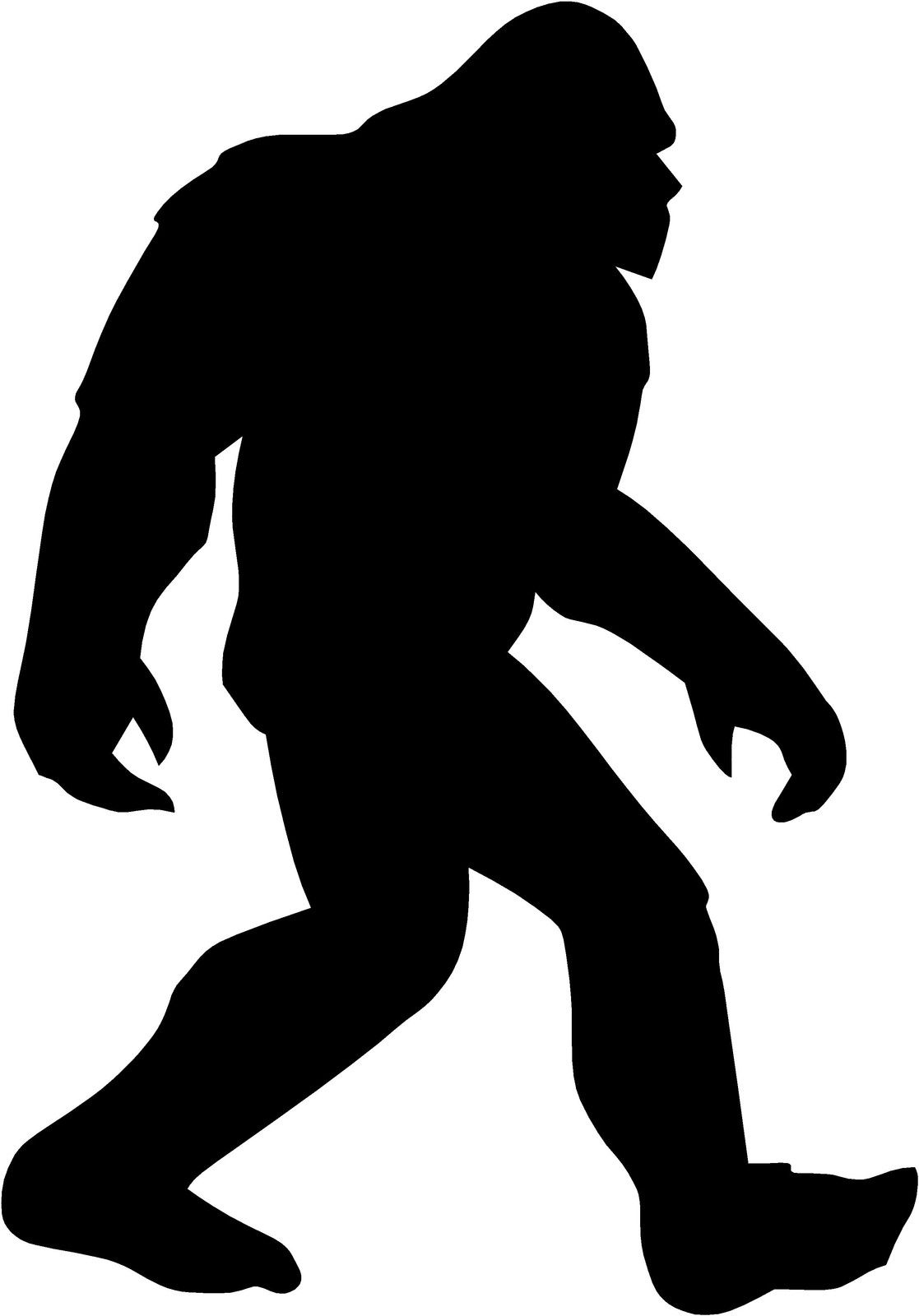 sasquatch decal x. Bigfoot clipart yeti