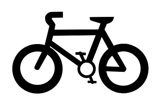 Bike black and white. Biking clipart easy