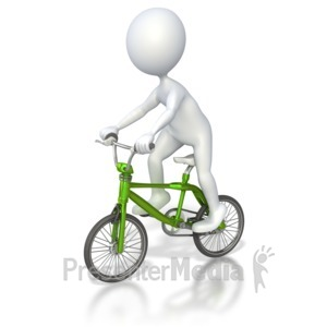 Bicycle racer peddling . Bike clipart animated